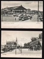 SANTIAGO (Chili) Bon Lot De 5 Cartes Animées, Neuves (4 Lignées Avant 1904, 1 Dos Séparé 1905) SUPERBES - Chile