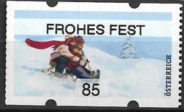 """2020 Österreich Austria AWZ Mi. 66**MNH Automatenmarken :    Weihnachten. """"Frohes Fest   """" - 2011-... Unused Stamps"""