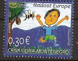 MONTENEGRO 2017,JOY OF EUROPE,CHILDREN PAINTING,PICTURE,MNH - Montenegro