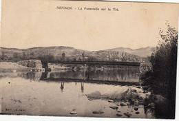 66 Néfiach Vers Perpignan La Passerelle Sur Le Têt 2 Hommes Et 1 Chien Sur La Passerelle En 1936 - Altri Comuni
