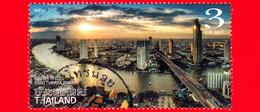 TAILANDIA - THAILAND - Usato - 2017 - Viste Lungo Il Fiume Chao Phraya - River - 3 - Tailandia