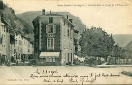 SAINT RAMBERT En BUGEY - GRANCE RUE Et QUAI De L' ALBARINNE  - - Sonstige Gemeinden