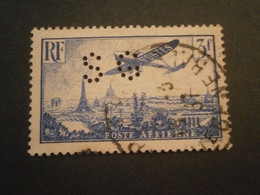 FRANCE TIMBRE POSTE AERIENNE PA12 SG93 PERFORE PERFORES PERFIN PERFINS PERFORATION PERFORIERT LOCHUNG PERFORATI PERF - Perforadas