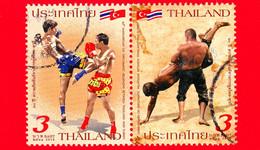 TAILANDIA - THAILAND - Usato - 2018 - 60 Anni Delle Relazioni Diplomatiche Con La Turchia - Arti Marziali - Lotta - Boxe - Tailandia