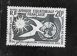 TIMBRE OBLITERE D'AFRIQUE EQUATORIALE DE 1958 N°MICHEL 312 - Used Stamps
