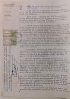 INDOCHINE / VIETNAM .  SAISIE ARRET. HAIPHONG . 1954 . TRIBUNAL + TIMBRES FISCAUX - Historical Documents