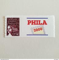N°3729C / 15a  1,11 PRUNE MARIANNE DE LUQUET LUXE COTE MAURY 500 EUROS LOGO PHILA - Sellos Personalizados