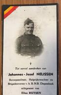 Johannes-Jozef Nelissen / Brigadeoverste Van Het B.N.B / Diepenbeek / Hulprijkswachter / - Imágenes Religiosas