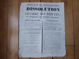 Affiche Basses Pyrénées 1830 - Historical Documents