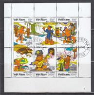 Vietnam 1990 - La Legende De Tach Sanh, Mi-Nr. 2249/54, Dent., Used - Vietnam