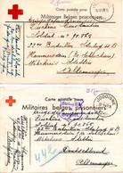 2X Kriegsgefangenenpost Prisonnier De Guerre 1940/45 Stalag II B + Censure, Croix-Rouge De Belgique Départ JODOIGNE - Covers