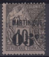 MARTINIQUE : ALPHEE DUBOIS SURCHARGE N° 10 OBLITERATION LEGERE - COTE 85 € - Usati