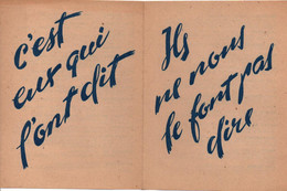 TRACT ANTI ANGLAIS  ETAT FRANCAIS VICHY COLLABORATION  PROPAGANDE - 1939-45