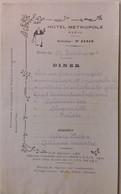 INDOCHINE / VIETNAM .HOTEL METROPOLE . HANOI . 1918 - Menus