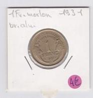 1fr Morlon Cupro Aluminium 1931 - H. 1 Franco