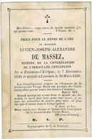 FONTAINE-l'EVÊQUE / LOUVAIN - Lucien DE MASSEZ - °1839 Et +1859 - Imágenes Religiosas