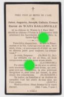 Noblesse Belge Décès Du Baron De Waha Baillonville :  Château De  Wanne 1842 - Château D' Ouhar 1925 - Ohne Zuordnung