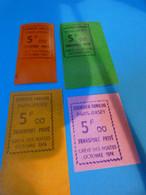 TIMBRE DE GREVE  N°   36   ET  37   LES  4 COULEURS - Strike Stamps