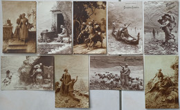 8 CPA Fantaisie - Mastroianni - 1910s - Circulées Sous Enveloppe - Mastroianni