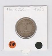 1fr Chambre De Commerce 1920 - H. 1 Franco