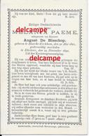 Doodsprentje Melanie Paeme Maarke Kerkem 1821 En Overleden Te Etichove 1890 De Bisschop August Oudenaarde - Imágenes Religiosas