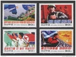 North Korea 2016 Mih. 6262/65 Propaganda. Locomotive. Planes. Ships. Football. Tennis. Fishes. Birds MNH ** - Korea (Noord)