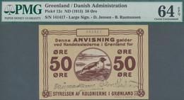 Greenland / Grönland: Greenland – Danish Administration 50 Oere ND(1913), P.12c With Signatures Jens - Groenlandia