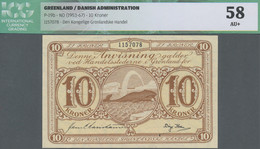 Greenland / Grönland: Kongelige Grønlandske Handel 10 Kroner ND(1953-67), P.19b, Excellent Condition - Groenlandia
