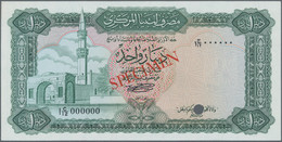 Libya / Libyen: Central Bank Of Libya 1 Dinar Color Trial SPECIMEN In Green Instead Of Blue Color, N - Libië