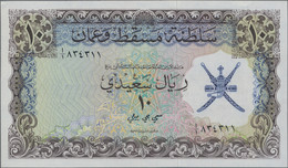 Oman: Sultanate Of Muscat And Oman Of The ND(1970) Series With 100 Baisa, ¼, ½, 1, 2x 5 And 10 Rials - Oman