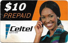 Malawi - Celtel - Lady With Scarf On Phone - No Expiry Date, GSM Refill 10$, Used - Malawi