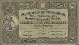 Switzerland / Schweiz: Nice Lot With 13 Pieces 5 Franken 1921 - 1952, Comprising The Following Years - Switzerland