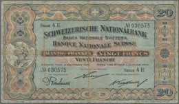 Switzerland / Schweiz: 20 Franken 1st January 1918 With Signatures: Hirter / Burckhardt / Bornhauser - Switzerland