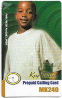Malawi - MTL - Keep Talking - Boy With White Shirt, Exp. 17.04.2006, Remote Mem. 240Mk, Used - Malawi