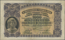 Switzerland / Schweiz: 1000 Franken 1st January 1923, P.30, First Issue Of This Type Of The 1000 Fra - Switzerland