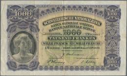 Switzerland / Schweiz: 1000 Franken 7th September 1939, P.37e, Very Nice With Still Strong Paper And - Switzerland