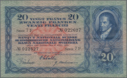 Switzerland / Schweiz: Nice Lot With 11 Banknotes 20 Franken With Date 1935, 1937, 1938, 1939, 1940, - Switzerland