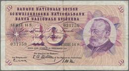 Switzerland / Schweiz: Huge Lot With 18 Banknotes 10 Franken With Date 1958, 1959, 1961, 1963, 1964, - Switzerland