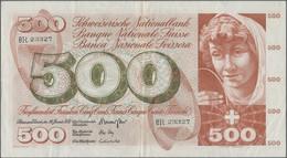 Switzerland / Schweiz: 500 Franken 24rd January 1972, P.51j, Still Nice With Small Border Tear, Seve - Switzerland