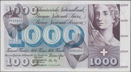 Switzerland / Schweiz: 1000 Franken 10th February 1971, P.52j, Still Very Nice With A Few Folds And - Switzerland