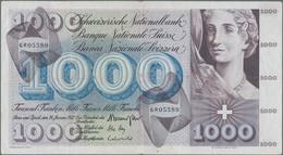 Switzerland / Schweiz: 1000 Franken 24rd January 1972, P.52k, Nice Original Shape With A Few Folds, - Switzerland