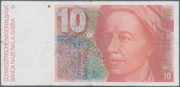 Switzerland / Schweiz: Nice Lot With Banknotes 10 Franken With Date 1979, 1980, 1982, 1983, 1986, 19 - Switzerland