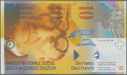 Switzerland / Schweiz: Very Nice Set With 9 Banknotes, Comprising 3x 10, 2x 20, 2x 50, 100 And 200 F - Switzerland