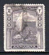 Zanzibar - 1936 2s Dhow (o) # SG 319 - Zanzibar (...-1963)