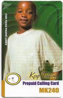 Malawi - MTL - Keep Talking - Boy With White Shirt, Exp. 26.05.2006, Remote Mem. 240Mk, Used - Malawi