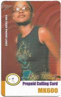 Malawi - MTL - Keep Talking - Girl With Glasses, Exp. 11.04.2007 , Remote Mem. 600Mk, Used - Malawi