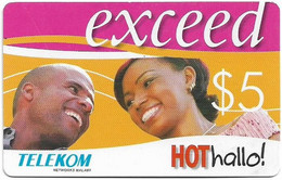Malawi - Telekom Malawi - Exceed - Couple Laughing, No Expiry Date, GSM Refill 5$, Used - Malawi