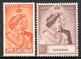 Zanzibar - 1949 Royal Silver Wedding Set (*) # SG 333-334 - Zanzibar (...-1963)