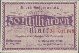Deutschland - Notgeld - Hessen: Hofgeismar Und Umgebung, Auf Blättern Aufgezogene Sammlung Von Gelds - [11] Local Banknote Issues