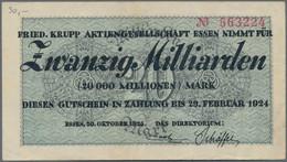 Deutschland - Notgeld - Rheinland: Essen, Friedrich Krupp AG, Lot Von 15 Groß- Und 41 Kleingeldschei - [11] Local Banknote Issues